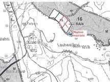Määräalan ohjeellinen kartta
