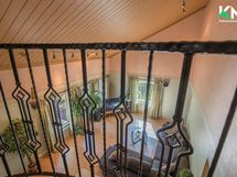 Sisäparveke parantaa myös lämmön siirtymistä yläkertaan