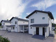 Valmiit myydyt talot C, B ja D
