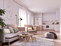 Kievarinpihaan tulee maalämpö ja kaikissa asunnoissa on vesikiertoinen lattialämmitys.