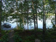 saunan terassilta järvelle