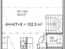 Pohjakuva asunto B3 alakerta