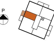 Asunnon 25 sijainti kerroksessa
