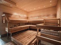 Upea taloyhtiön sauna