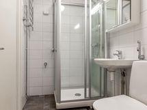 Asunnon remontoitu kylpyhuone