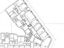 Caloniuksenkatu 2 katutason pohja