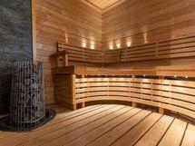 Upea sauna.