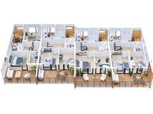 B-talon 3D kerrospohja 2.krs, suuntaa-antavana myös A-taloon