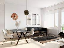 Visualisointi Kukonaskeleen 68,5-neliöisestä kodista