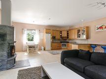 keittiö ja olohuone yhtä isoa tilaa