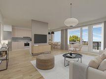 Virtuaalikalustus keittiössä & olohuoneessa
