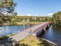Kevyen liikenteen silta Kuopion keskustaan.
