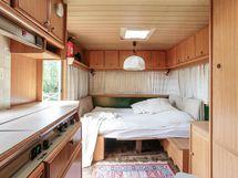 Asuntovaunussa hyvät nukkumatilat